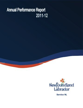 Service NL Annual Performance Report 2011-12
