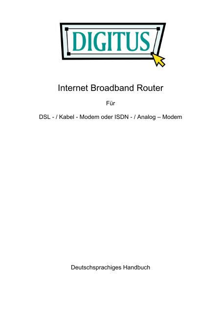 Internet Broadband Router - Digitus