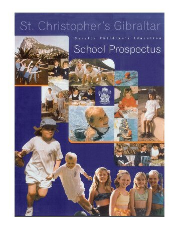 St Christopher School brochure - Service Schools Mobility Toolkit