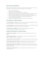 Flag Ceremony Guidelines Terms Used in a Flag ... - Service Unit 70-2