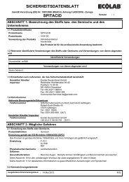 SICHERHEITSDATENBLATT SPITACID - Servoprax GmbH
