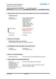 sensiva protective emulsion Kein Änderungsdienst! - Schülke & Mayr