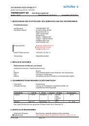SICHERHEITSDATENBLATT - Schülke & Mayr