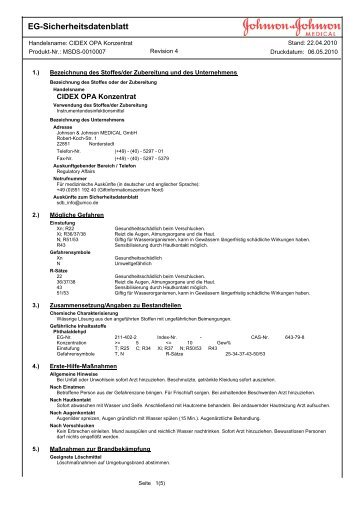 EG-Sicherheitsdatenblatt - Servoprax GmbH