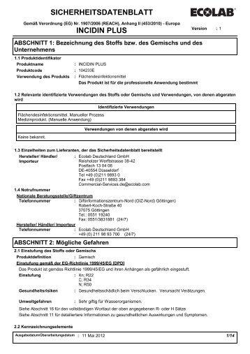 Incidin PLUS - Servoprax GmbH