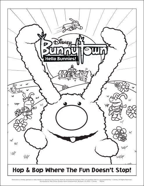 BunnyTown Activity Sheet 1 FINAL indd - Disney
