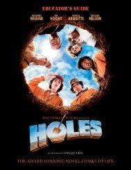 Holes Educator's Guide - GO.com - Disney