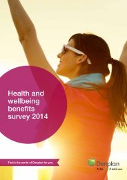 Health and wellbeing benefits survey 2014