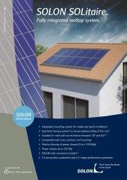 SOLON SOLitaire. - Abakus solar AG