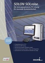 SOLON SOLraise. - Abakus solar AG