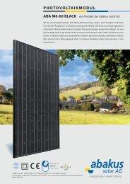 aBa m6-60 Black - Abakus solar AG