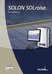 Kurzanleitung SOLON SOLraise - Abakus solar AG