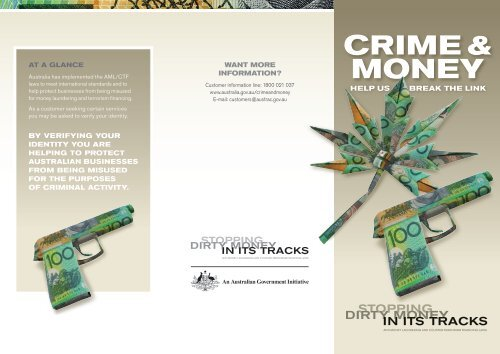 Anti-Money Laundering and Counter-Terrorism Financing brochure