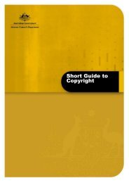 Short Guide to Copyright - October 2012 - Attorney-General's ...