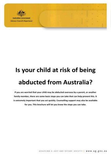 International child abduction prevention brochure - Attorney ...