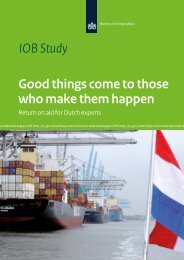 Good things come to those who make them happen – Return on aid for Dutch exports