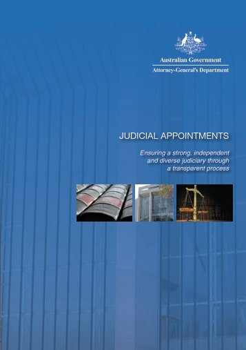 Judicial Appointments - Attorney-General's Department