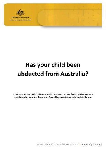 International Child Abduction Brochure [PDF 403KB] - Attorney ...