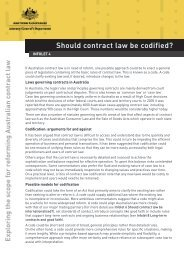 Should contract law be codified? - Attorney-General's Department