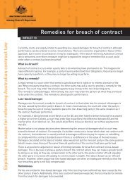 Remedies for breach of contract - Attorney-General's Department
