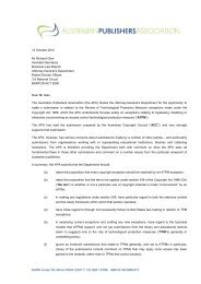 Submission APA ATPM Review 121012 - Attorney-General's ...
