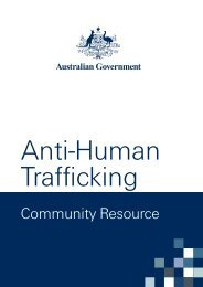 Anti-Human Trafficking Community Resource - Attorney-General's ...