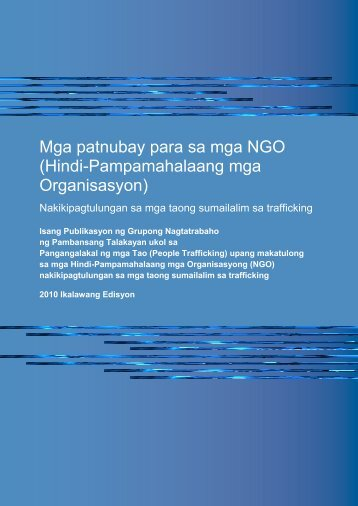 People Trafficking NGO Guidelines - Tagalog - Attorney-General's ...