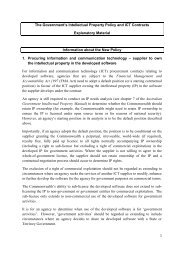 Explanatory material about the new policy and the model contract ...