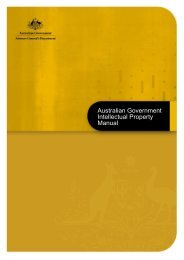 australian government intellectual property manual - Attorney ...