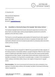 Australian Copyright Council - Attorney-General's Department