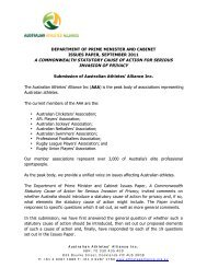 Australian Athletes Alliance - Attorney-General's Department