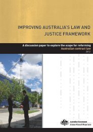 Improving Australia's Law and Justice Framework Discussion Paper