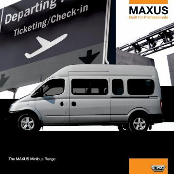 The MAXUS Minibus Range - Van Leasing and Car Leasing
