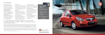 T15205 New Corsavan Spec.indd - Van Leasing and Car Leasing