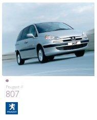Peugeot 807 Brochure - S G Petch