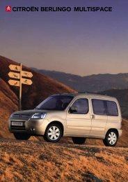 CITROËN BERLINGO MULTISPACE - Van Leasing and Car Leasing