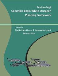 Columbia Basin White Sturgeon Planning Framework - Northwest ...