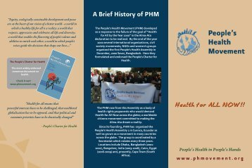 Download the PHM Brochure for more information - People's Health ...