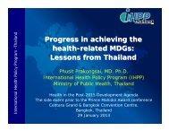 Thailand - People's Health Movement