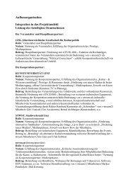 Aufbauorganisation Integration in das Projektumfeld ... - Servus.at