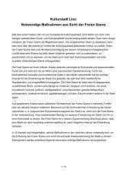 Kulturstadt Linz: Notwendige Maßnahmen aus Sicht der ... - Servus.at