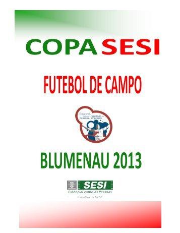 boletim final do futebol de campo 2013 - SESI - Esporte