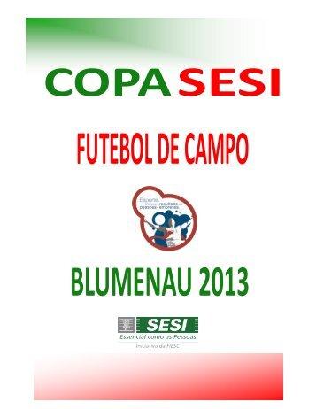 boletim informativo do futebol de campo 2013 - SESI - Esporte