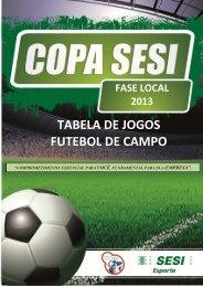 TABEL DE JOGOS - FUTEBOL DE CAMPO.pdf - SESI - Esporte