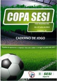 CADERNO DE JOGOS COPA 2013 - FINAL.pdf - SESI - Esporte