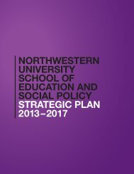 NORTHWESTERN UNIVERSITY SCHOOL OF EDUCATION AND ...