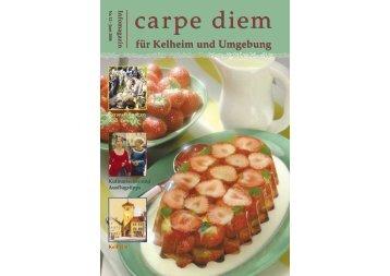 für Kelheim und Umgebung - carpe diem magazine