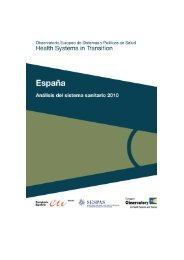 Health systems in transition - Sespas