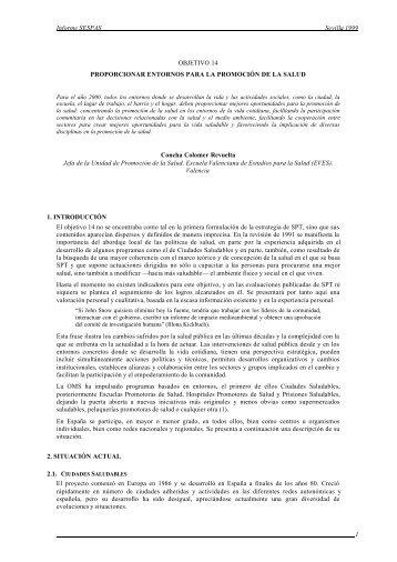 Informe SESPAS Sevilla 1999 1 OBJETIVO 14 ... - BVSDE