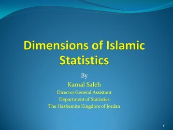 Dimensions of Islamic Statistics - OIC Statistical Commission
